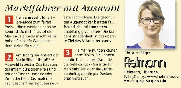 63efef2a0040eb Portrait der Fielmann-Filiale in Textform und Leiterin Christine Böger