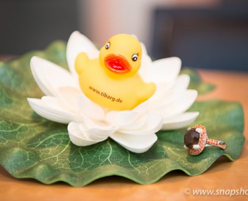 Auch die Tibarg-Ente liebt Geschmeide