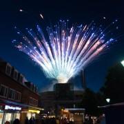 Ein Foto des Feuerwerks am Tibarg in Hamburg-Niendorf