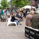 Das Foto zeigt den Lounge Bereich auf dem Tibarg Foodtruck Festival 2016 in Hamburg-Niendorf