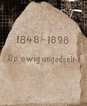 Erinnerungsstein 1848 - 1898
