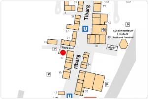 Karte des Tibarg mit Lagekennzeichnung von Die Hörmeister