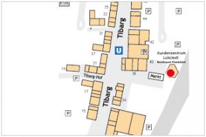 Lage des Kundenzentrum Lokstedt - Bezirksamt Eimsbüttel am Tibarg
