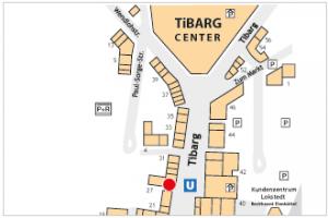 Lageplan vom Tibarg mit Kennzeichnung von arko