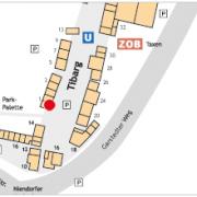 Karte des Tibarg mit Lagekennzeichnung der Praxis von Dr. Andreas Krumbiegel