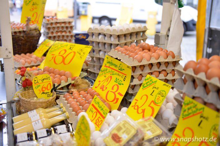 Eier in allen Variationen gibt es beim Markstand Hühnerhof Ahlerstedt