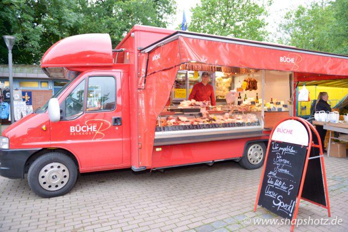 Der Marktstand von Feinkost Büche