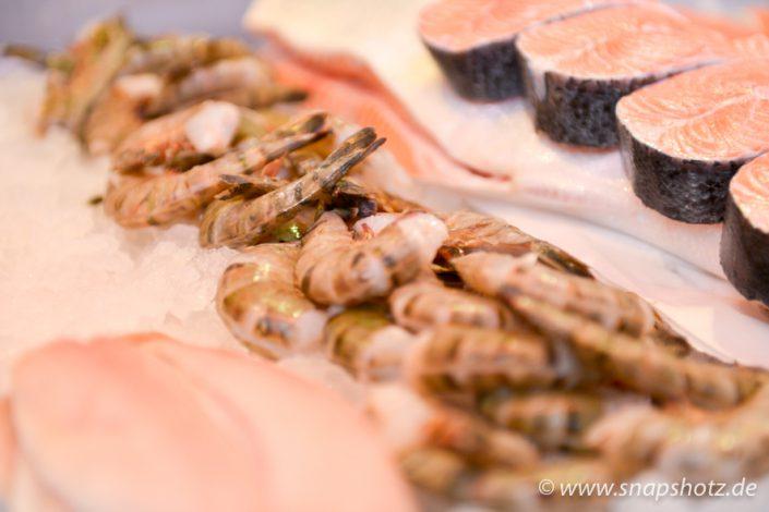 Frische Garnelen vin Fisch-Delikatessen Fink