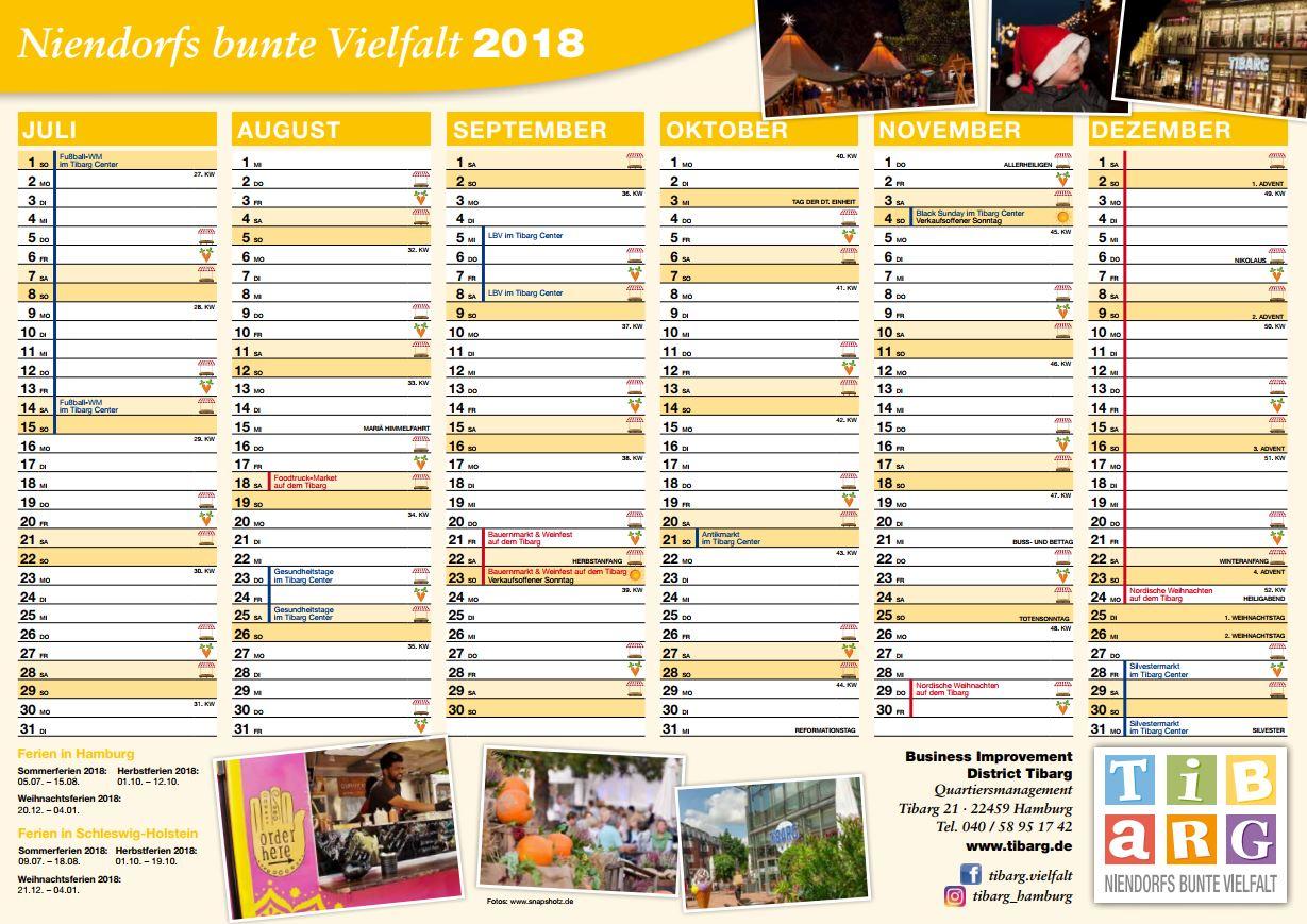 Tibarg Kalender 2018